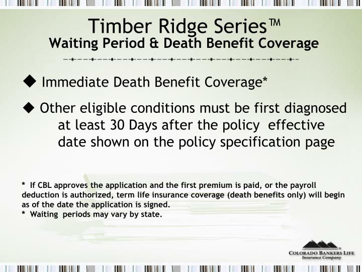 Timber Ridge Series™