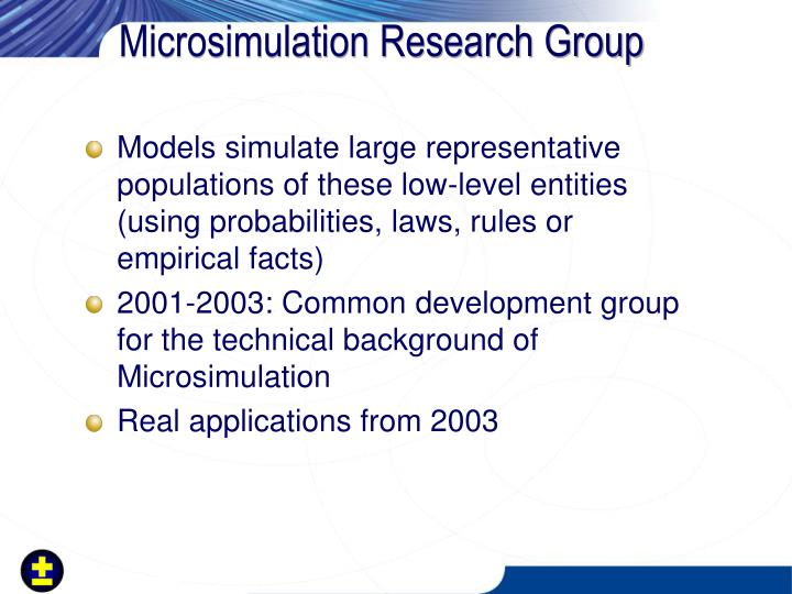 Microsimulation Research Group
