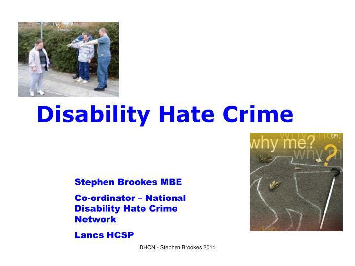 Disability hate crime