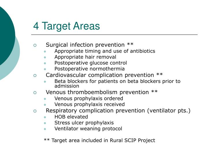 4 Target Areas