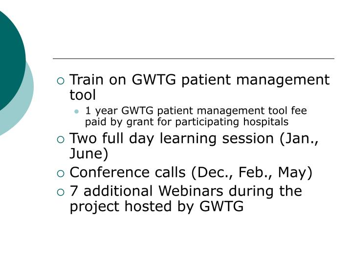 Train on GWTG patient management tool