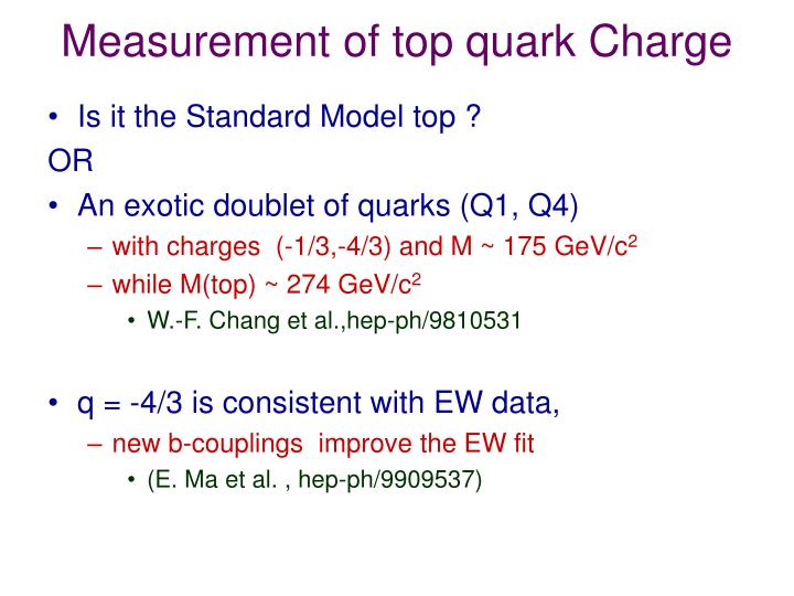 Measurement of top quark Charge