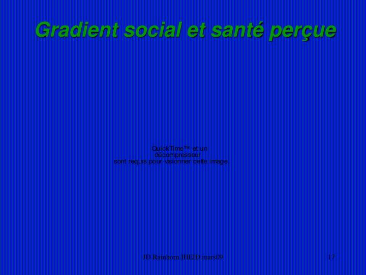 Gradient social et santé perçue