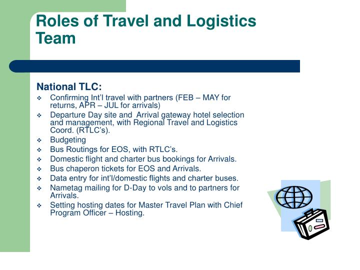 Roles of Travel and Logistics