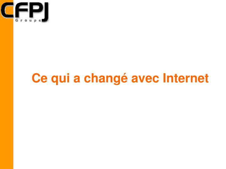 Ce qui a changé avec Internet