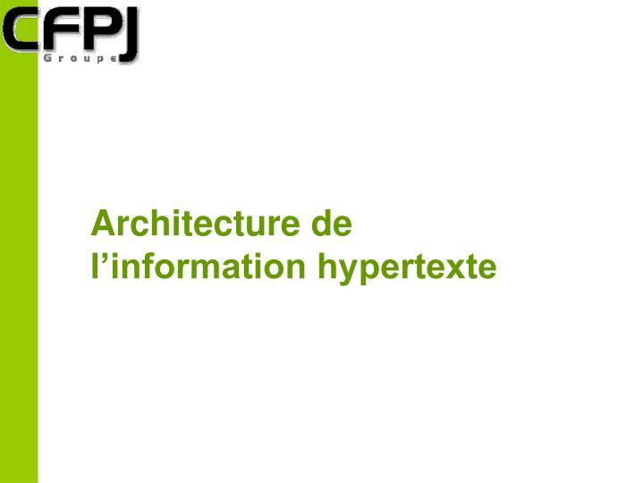 Architecture de
