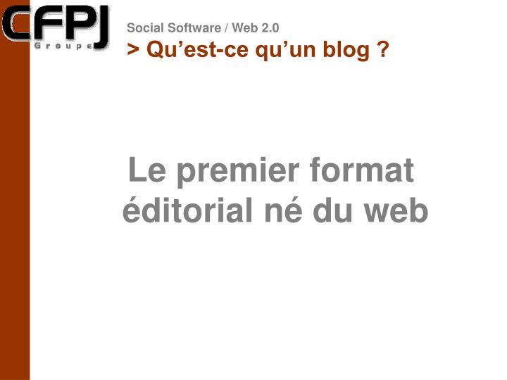 > Qu'est-ce qu'un blog ?