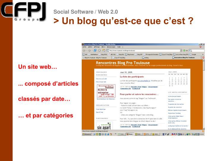> Un blog qu'est-ce que c'est ?