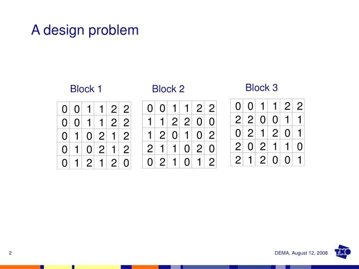 A design problem