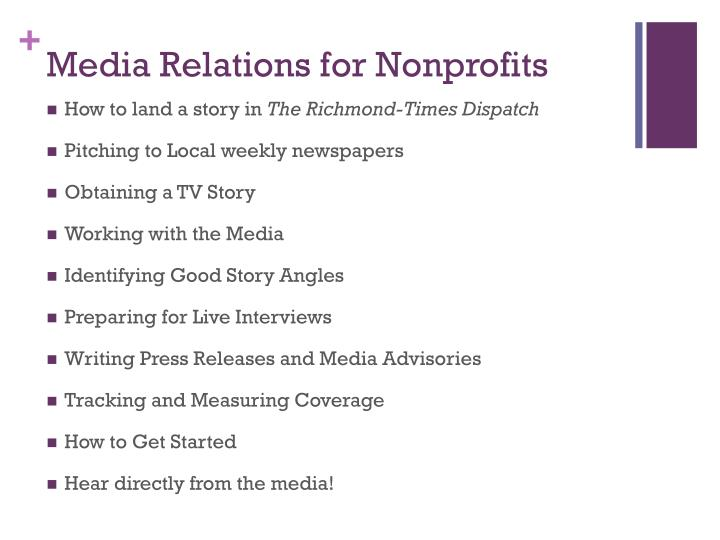 Media relations for nonprofits