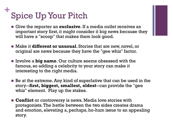 Spice Up Your Pitch