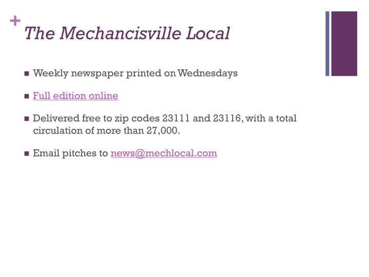 The Mechancisville Local