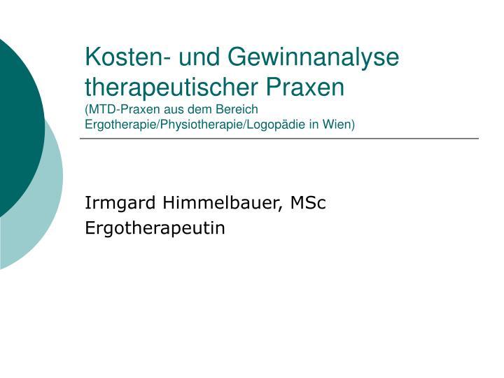 Kosten- und Gewinnanalyse therapeutischer Praxen