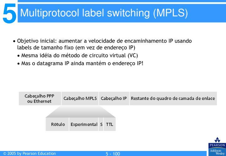 Objetivo inicial: aumentar a velocidade de encaminhamento IP usando labels de tamanho fixo (em vez de endereço IP)