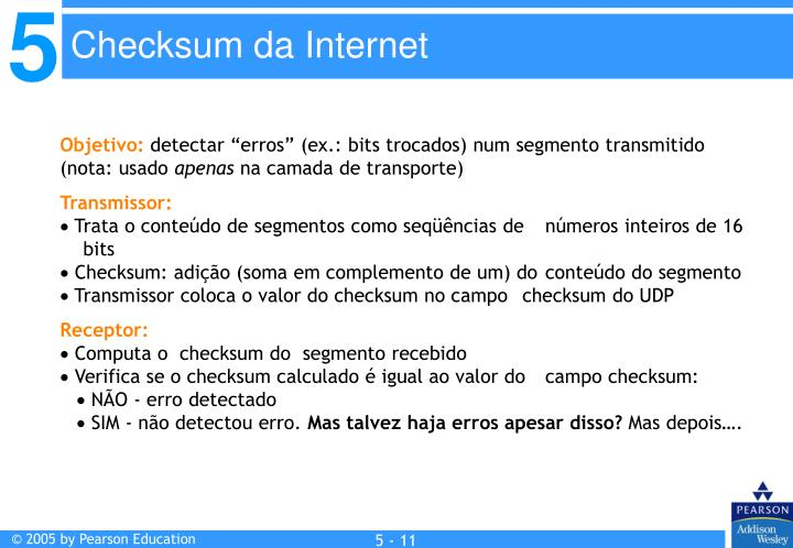 Checksum da Internet
