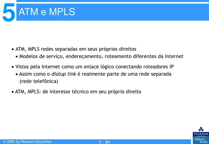 ATM, MPLS redes separadas em seus próprios direitos