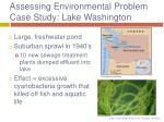 assessing environmental problem case study lake washington