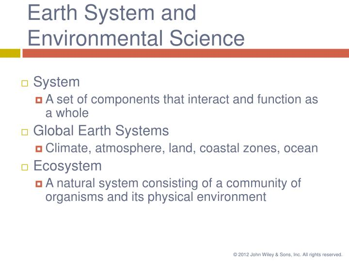 Earth System and Environmental Science
