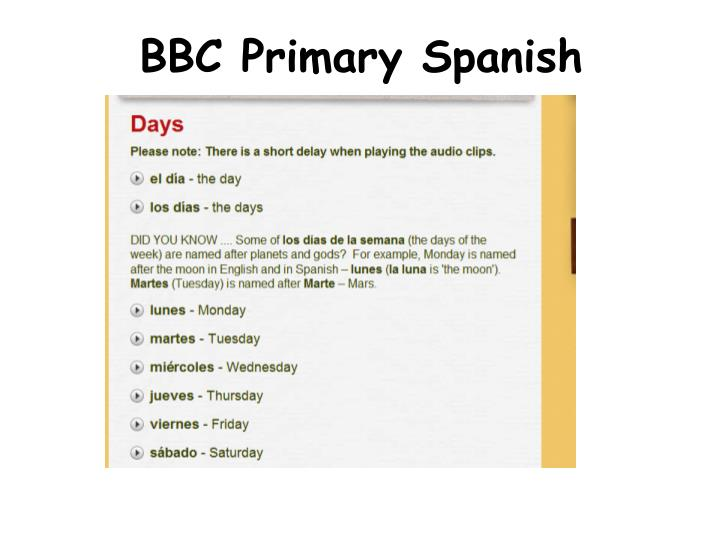 BBC Primary Spanish