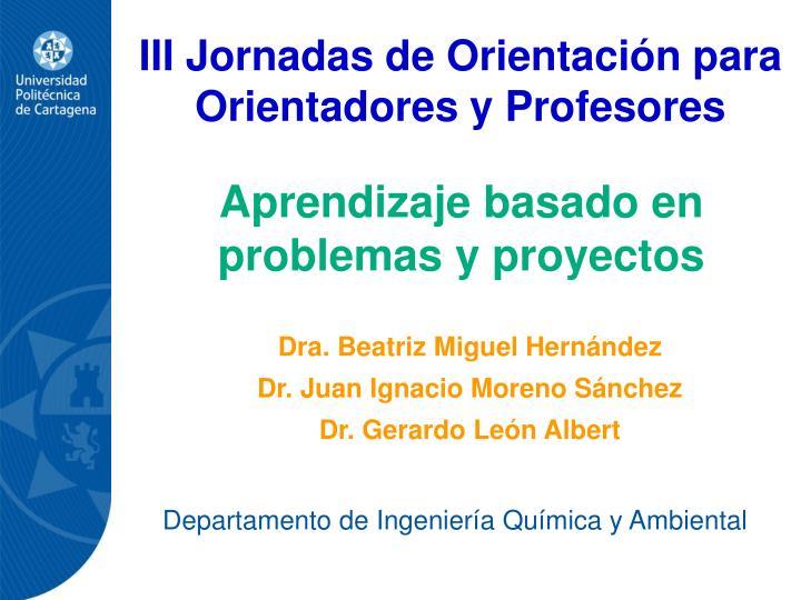 III Jornadas de Orientacin para Orientadores y Profesores