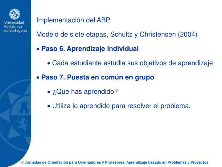 Implementacin del ABP
