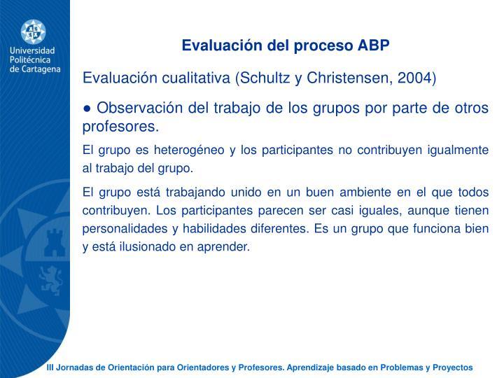 Evaluacin del proceso ABP