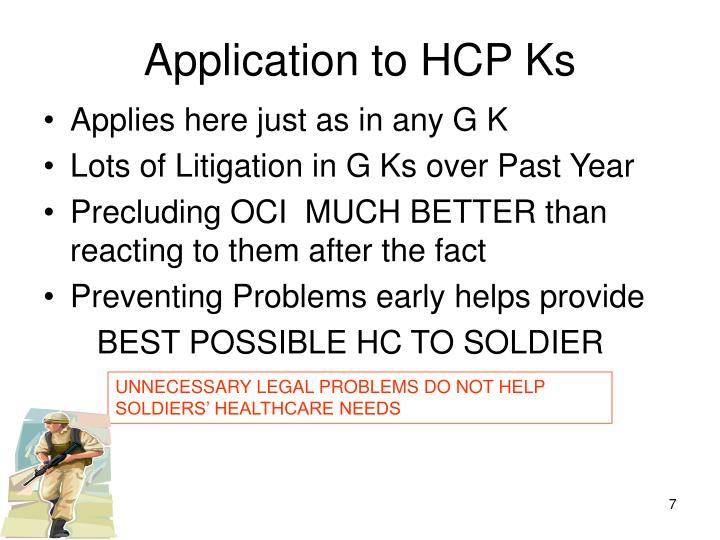 Application to HCP Ks