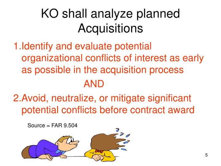 KO shall analyze planned Acquisitions