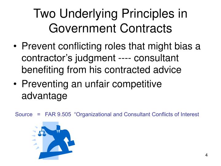 Two Underlying Principles in Government Contracts