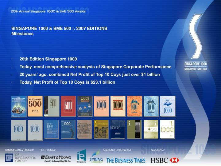 SINGAPORE 1000 & SME 500 :: 2007 EDITIONS