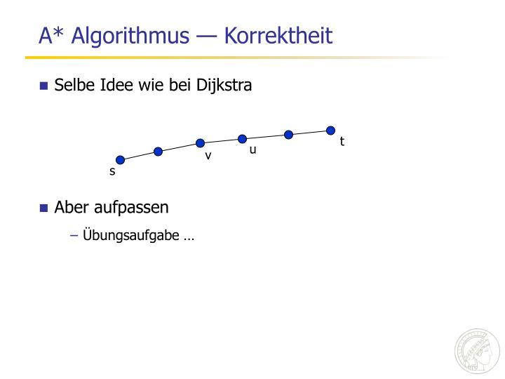 A* Algorithmus