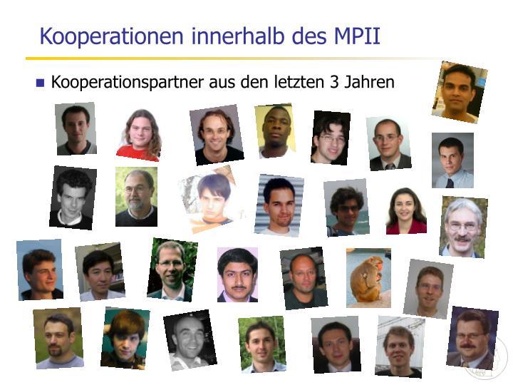 Kooperationen innerhalb des MPII