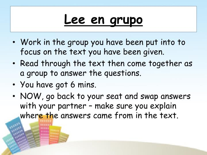 Lee en grupo