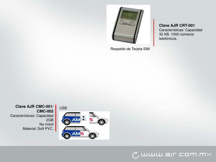 Clave AJR CRT-001