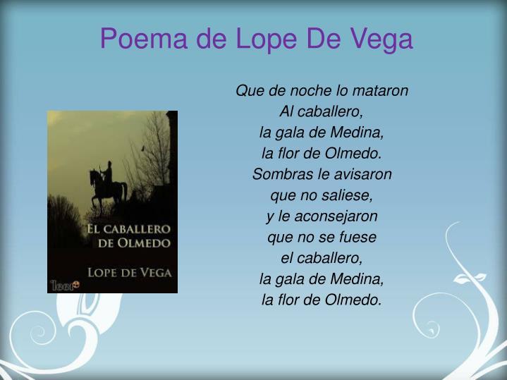 Poema de Lope De Vega