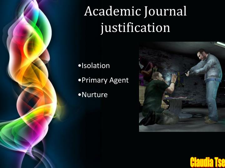 Academic Journal justification