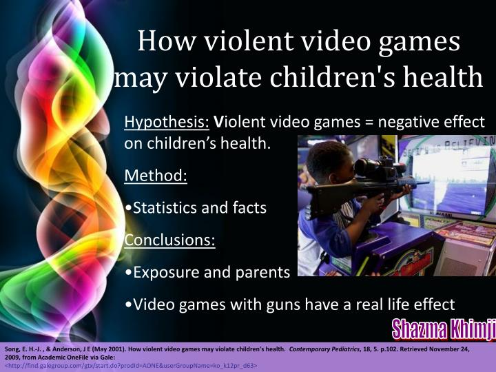 How violent video games may violate children's health