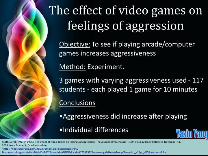 The effect of video games on feelings of aggression