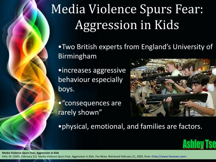 Media Violence Spurs Fear: Aggression in Kids