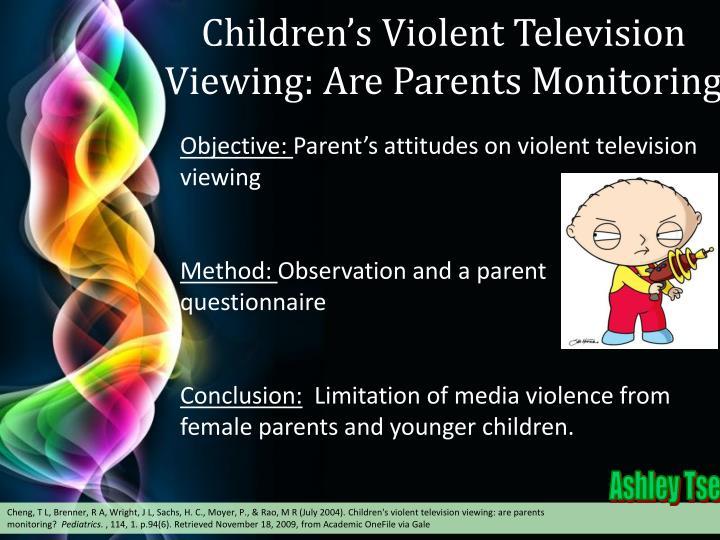 Children's Violent Television