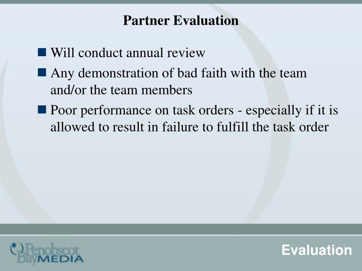 Partner Evaluation