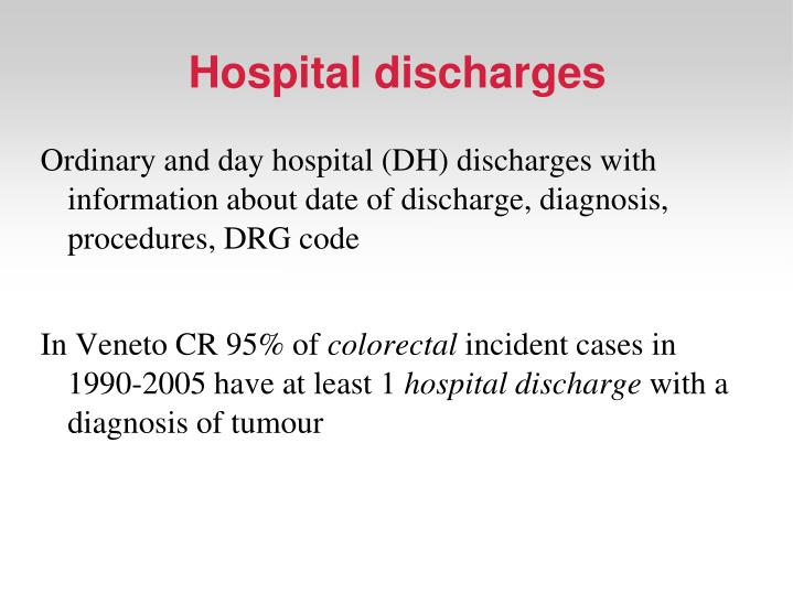 Hospital discharges