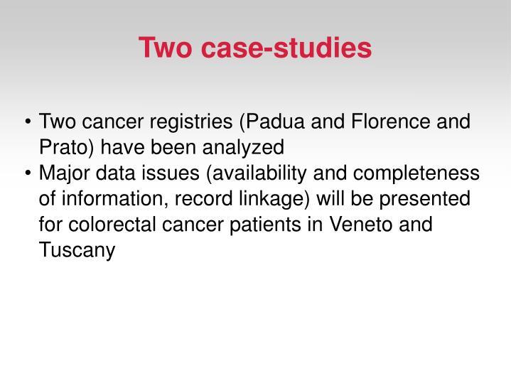 Two case-studies