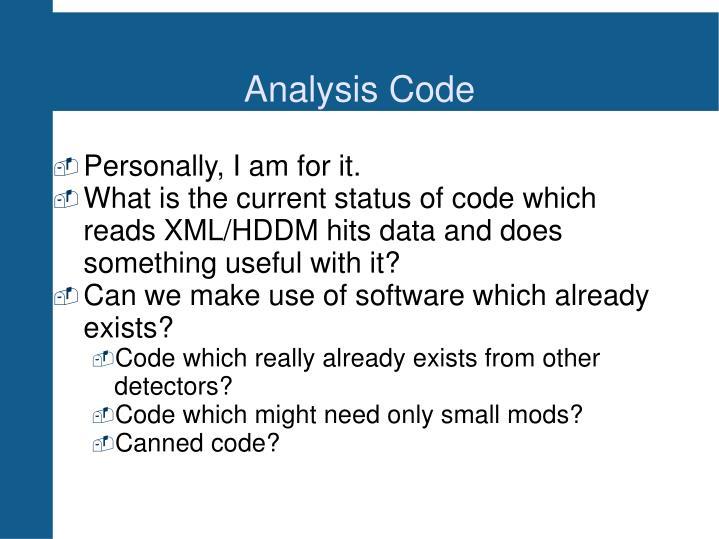 Analysis Code