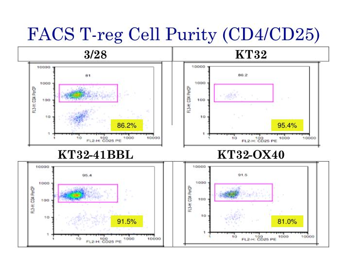 FACS T-reg Cell Purity (CD4/CD25)
