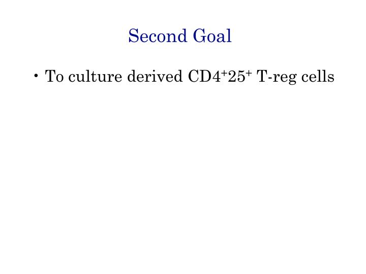 Second Goal