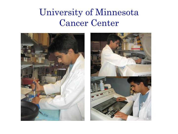 University of minnesota cancer center