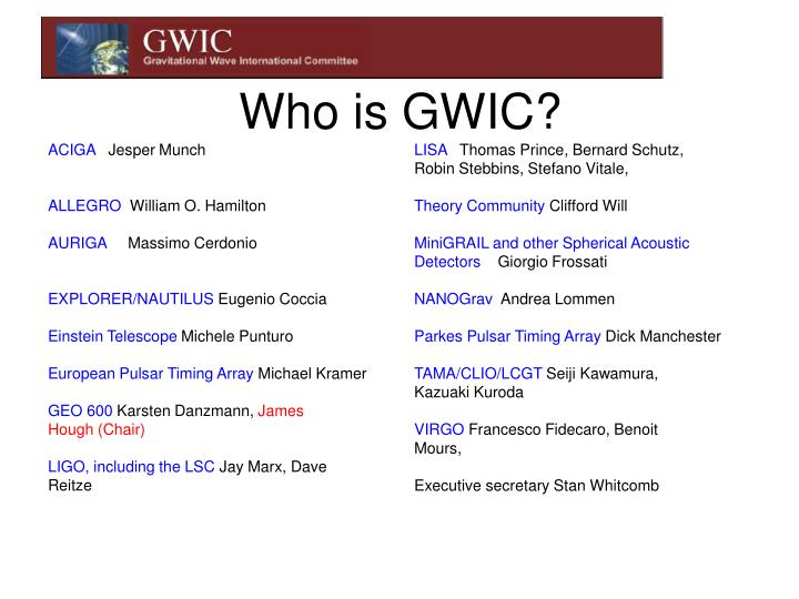 Who is gwic
