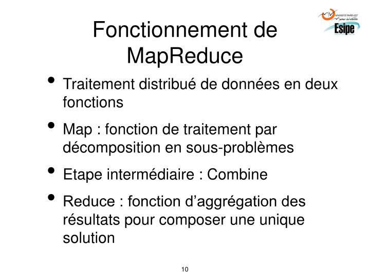 Fonctionnement de MapReduce