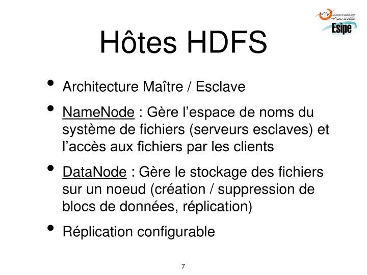 Hôtes HDFS